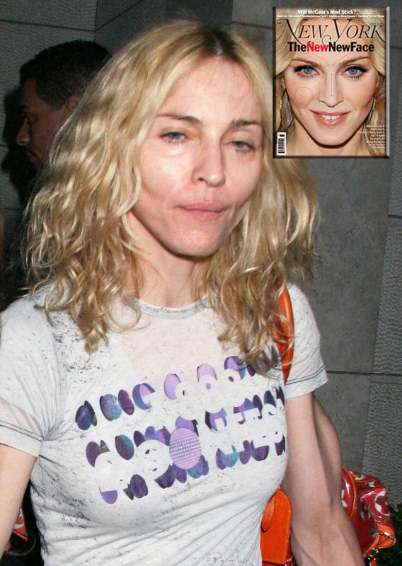 Madonna Gives Good Face?