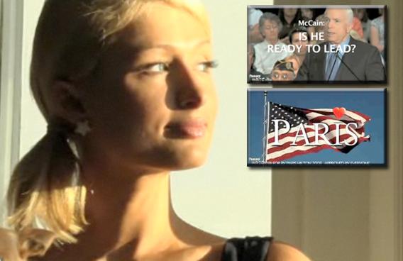 Paris Hilton Turns Comedienne in McCain Spoof