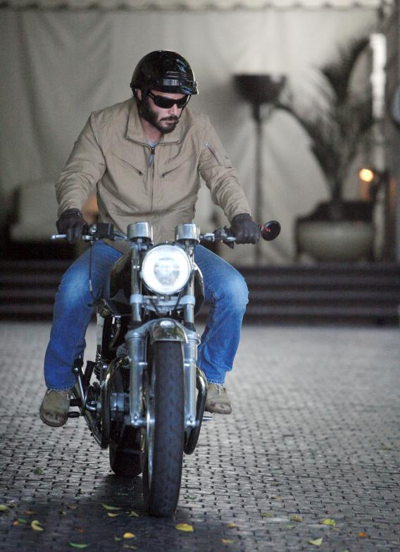Keanu Reeves Revs the Iron Beast Between His Legs