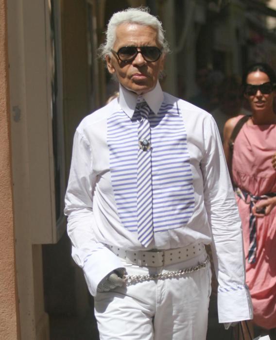 Karl Lagerfeld's a Proud White-Wearing Man