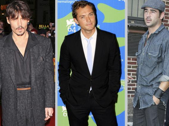 Johnny Depp, Jude Law, Colin Farrell: Class Actors