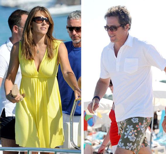 Liz Hurley and Hugh Grant: Boating Together