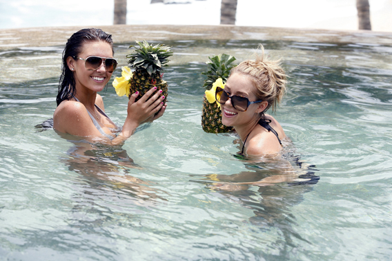 Audrina Patridge and Lauren Conrad Wet for Brody