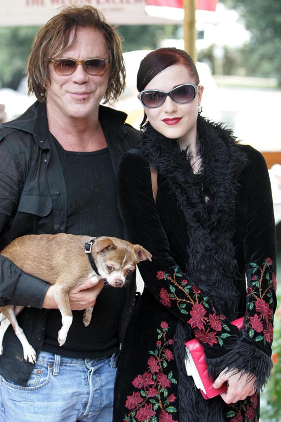 Mickey Rourke and Evan Rachel Wood Scare Italy