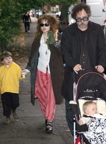 Tim Burton and Helena Bonham Carter: Freaky Family