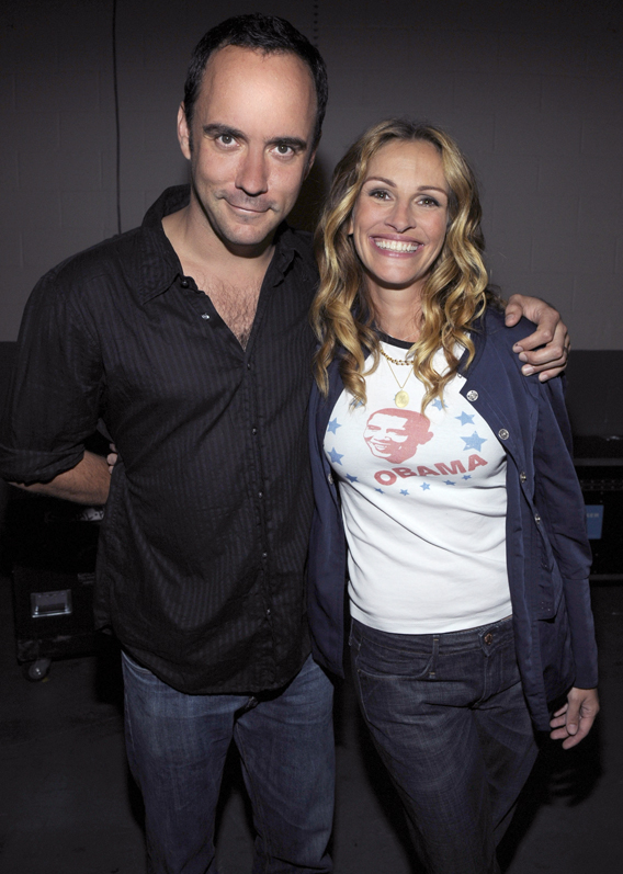 Dave Matthews Stands Up With Julia Roberts