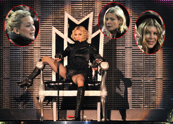 Madonna Filled Her VIP Section to the Brim