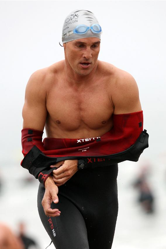 Matthew McConaughey Runs (And Strips) For Charity