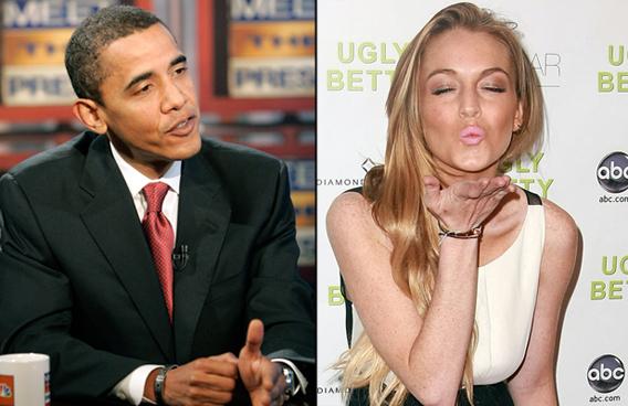 Obama Dashes Lindsay Lohan's Political Aspirations
