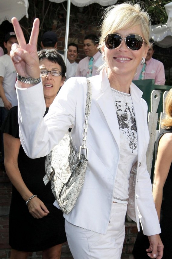 Sharon Stone Finds The Ivy Is a Happy Cougar Den