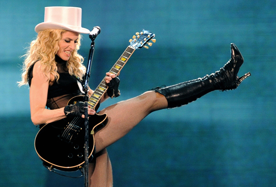 Madonna Sucks at Guitar Hero