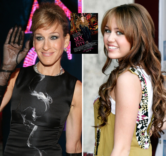 Miley Cyrus in Sarah Jessica Parker's Manolos?
