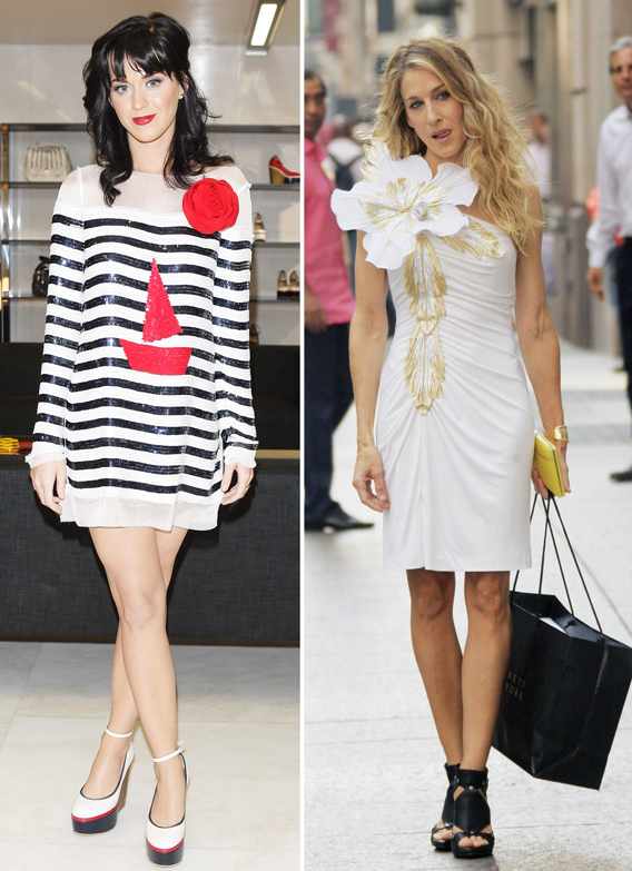 Katy Perry Channels Carrie Bradshaw