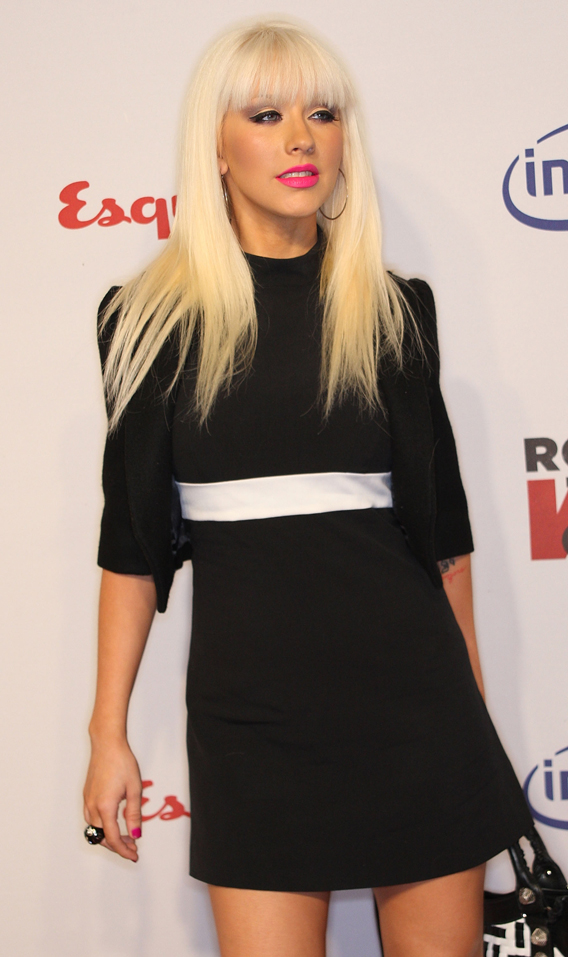 Christina Aguilera Rocks the Rock the Vote Party