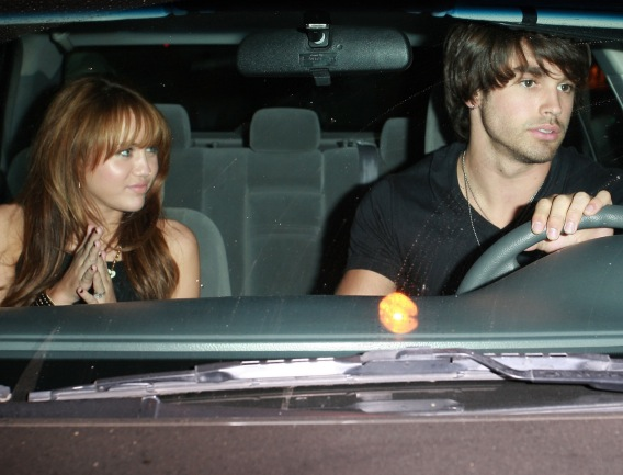 Miley Cyrus and Justin Gaston Do a Dinner Date Alone