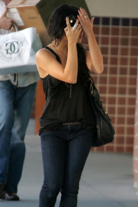 Vanessa Hudgens Hides Her 'High School Musical' Face