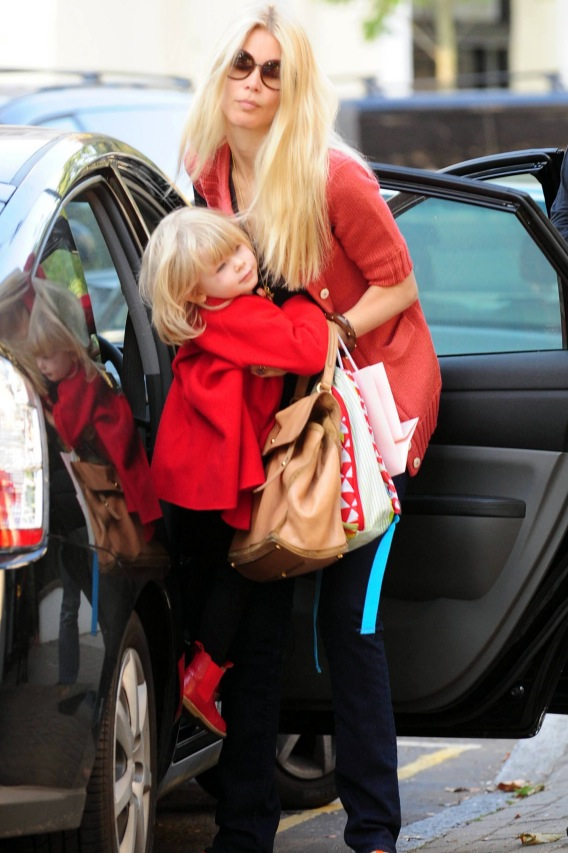 Claudia Schiffer and Daughter Clementine Match