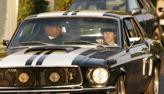 Nick Jonas Likes a Classic Ride