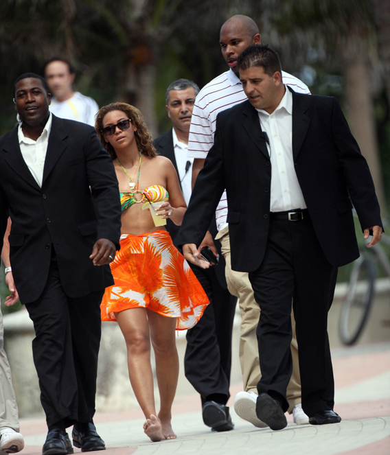 Beyonce Knowles' Beach Body is Well-Guarded
