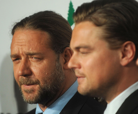 Russell Crowe and Leonardo:  Pals Full of 'Lies'
