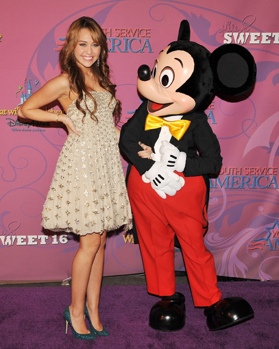 Miley Cyrus Has a Very Disney Sweet 16
