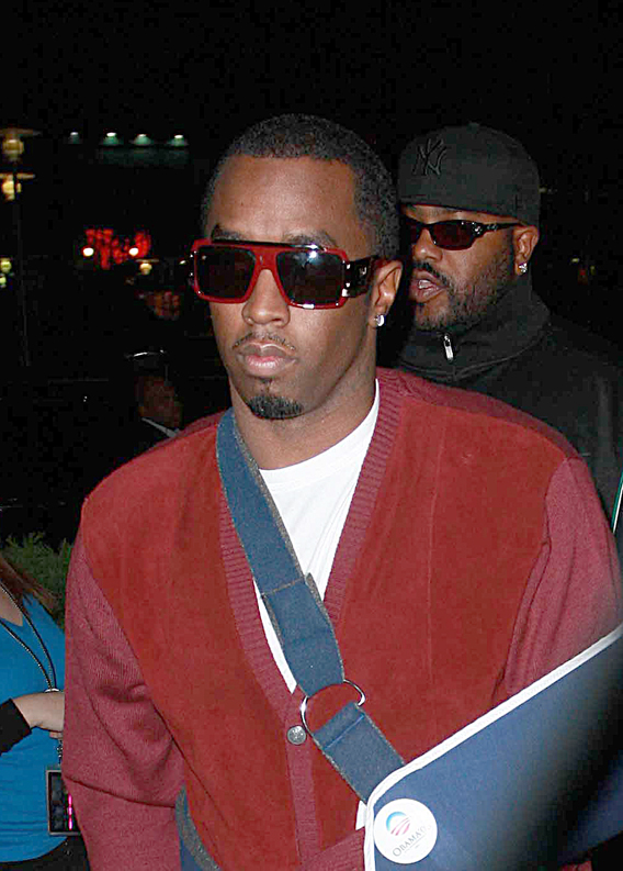 Diddy Goes to the Madonna Concert Armed