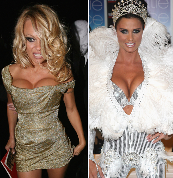 Pamela Anderson Locks Chests with Katie Price