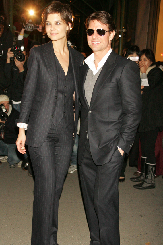 Tom Cruise and Katie Holmes Suit Up for Hermes