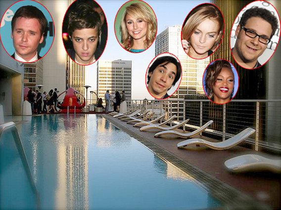 Celebs Dive in to a Dead Man's Pool Party