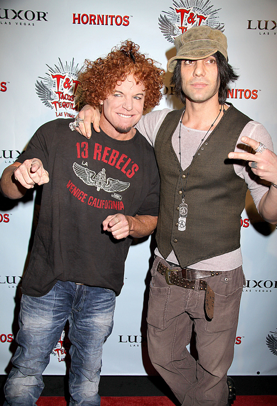 Carrot Top and Criss Angel Share Taco With Tila