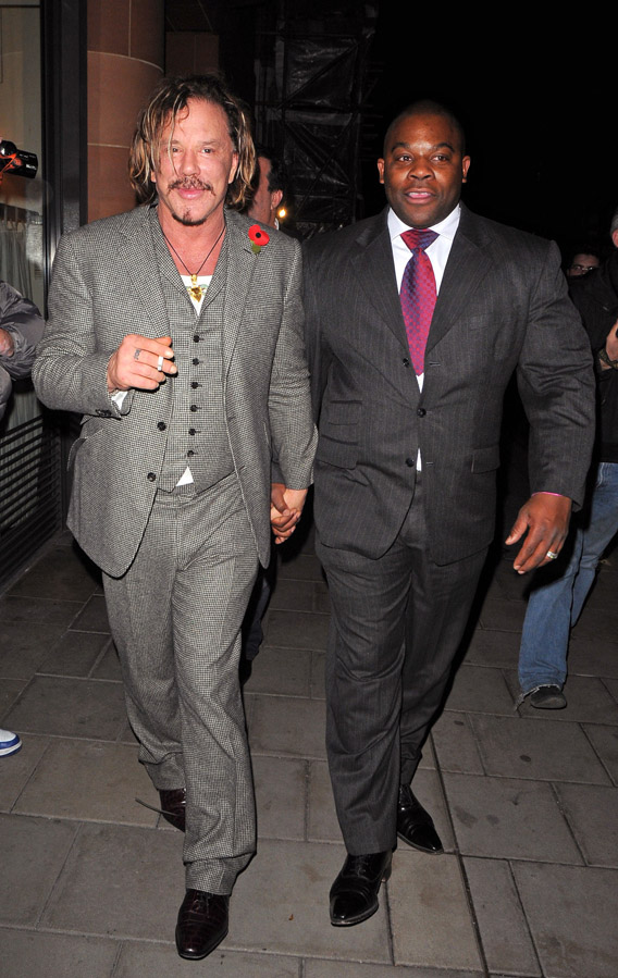 Mickey Rourke Made a Friend