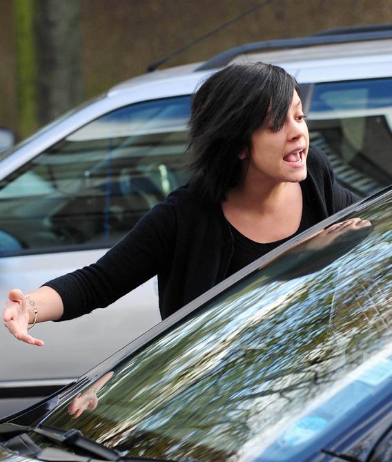 Lily Allen Attacks Car