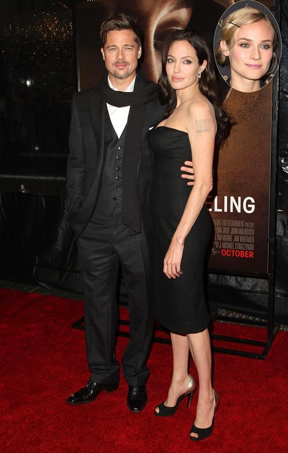 Angelina Jolie Fears Brad's Diane Kruger Friendship