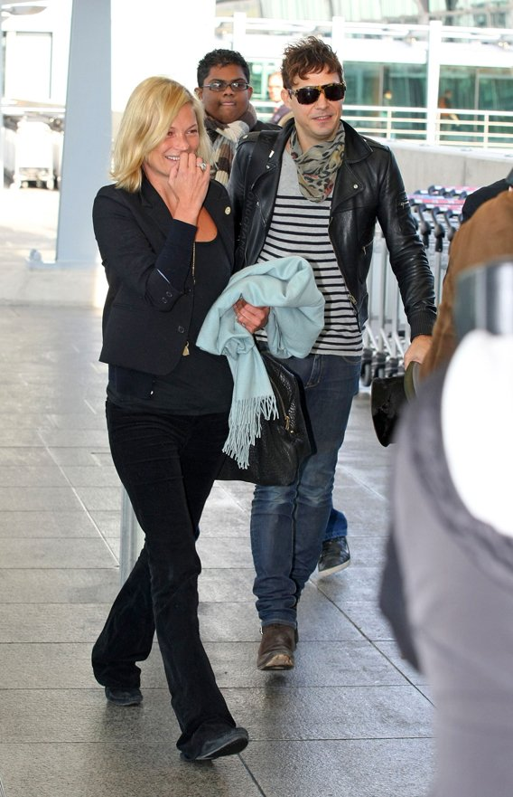 Kate Moss and Jamie Hince: Giggles at the Airport