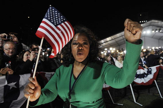 Oprah Leads the Charge at Obama Victory Celebration