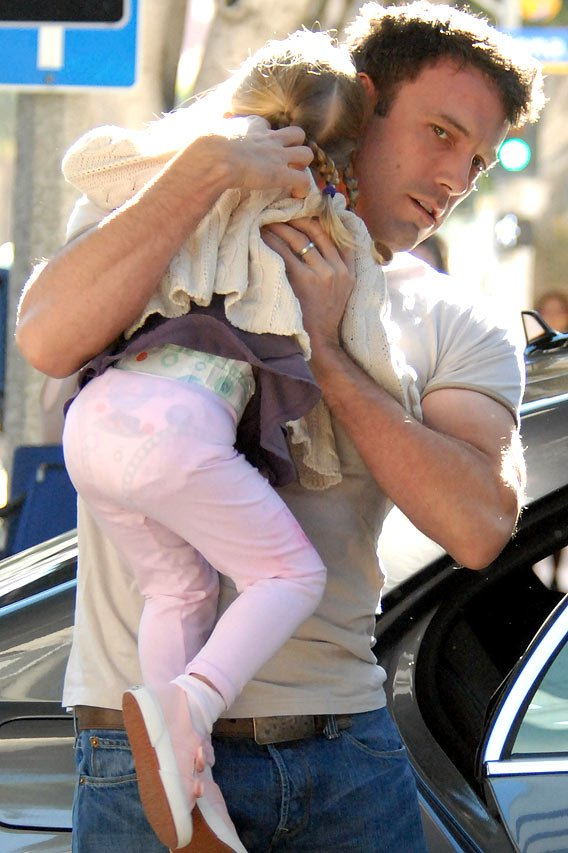 Violet Affleck Gets Carried Away