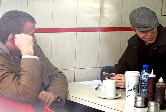 Guy Ritchie and Rachel McAdams Do Coffee Talk