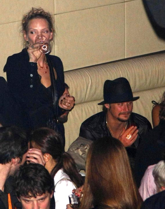 Kid Rock & Uma Thurman Unlikely Party Pals in Germany