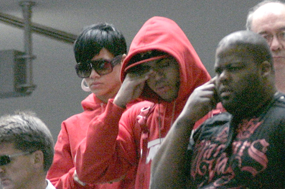 Rihanna and Chris Brown Frown Down Under