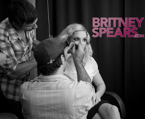 Britney Spears Preps for a Shoot, Previews Songs