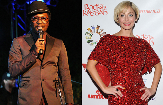 Will.i.am and Natalie Imbruglia: Sharing Boozy Smooches