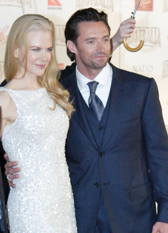 Nicole and Hugh Shine at the 'Australia' Premiere