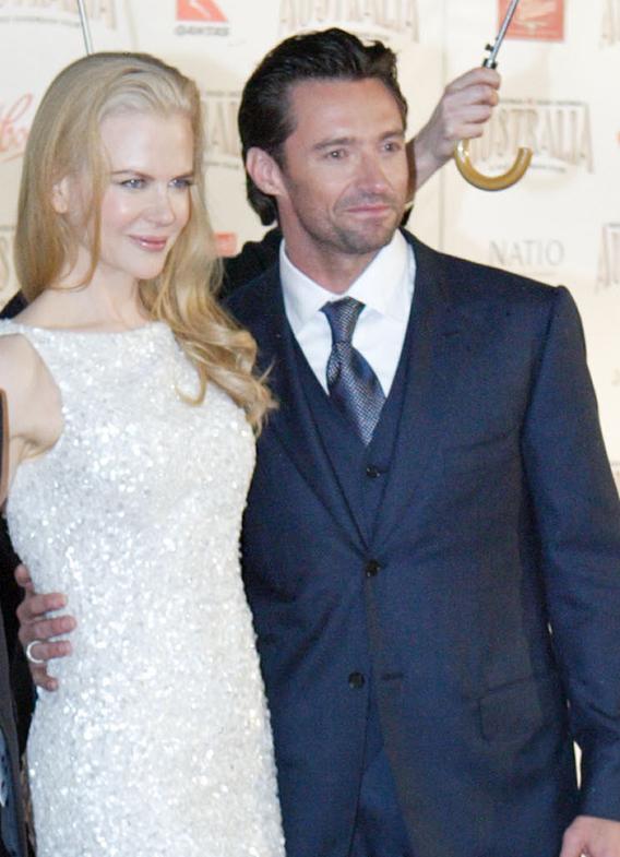 Nicole and Hugh Shine at the 'Australia' Premiere