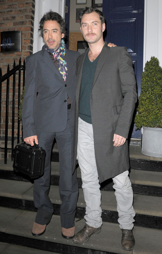 Robert Downey Jr. and Jude Law Have a Play Date