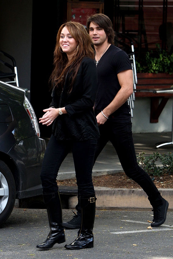 Miley Cyrus and Justin Gaston: Back In Black