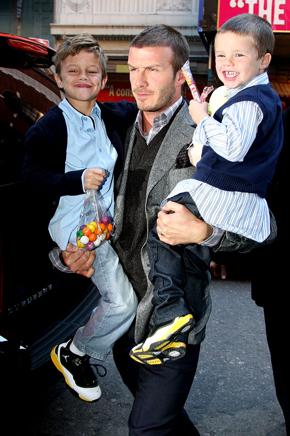 The Cruises and the Beckhams: Family Day Out