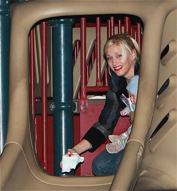 Gwen Stefani Spends the Day Kidding Around