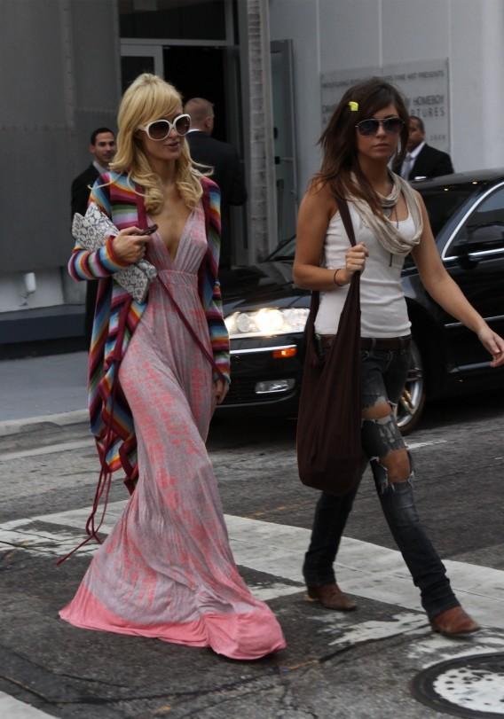 Paris Hilton and Brittany Flickinger BFF Around Town