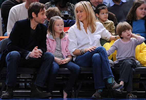 Courtside Reconcile for David Duchovny and Tea Leoni?