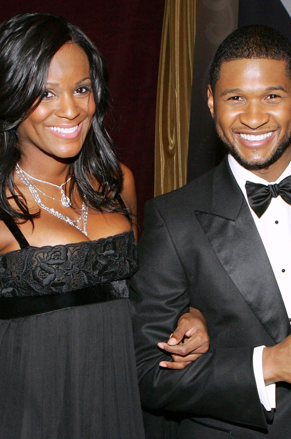 Usher Guides Baby #2 Into the World